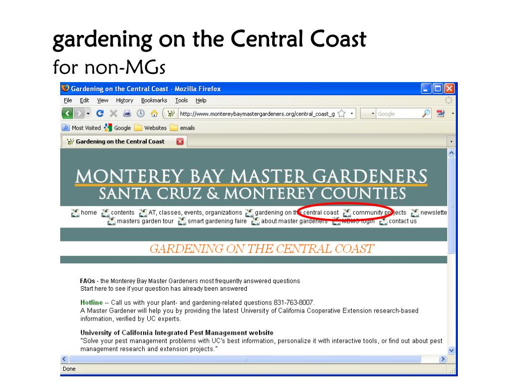gardening on the Central Coast