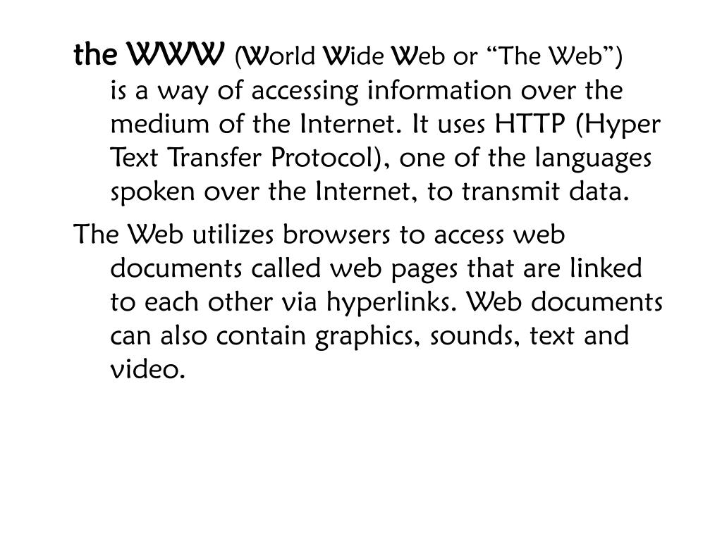 the WWW