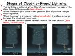 stages of cloud to ground lightning
