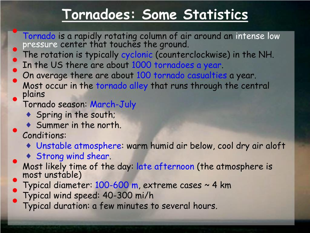Tornadoes: Some Statistics