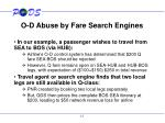 o d abuse by fare search engines