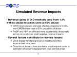 simulated revenue impacts