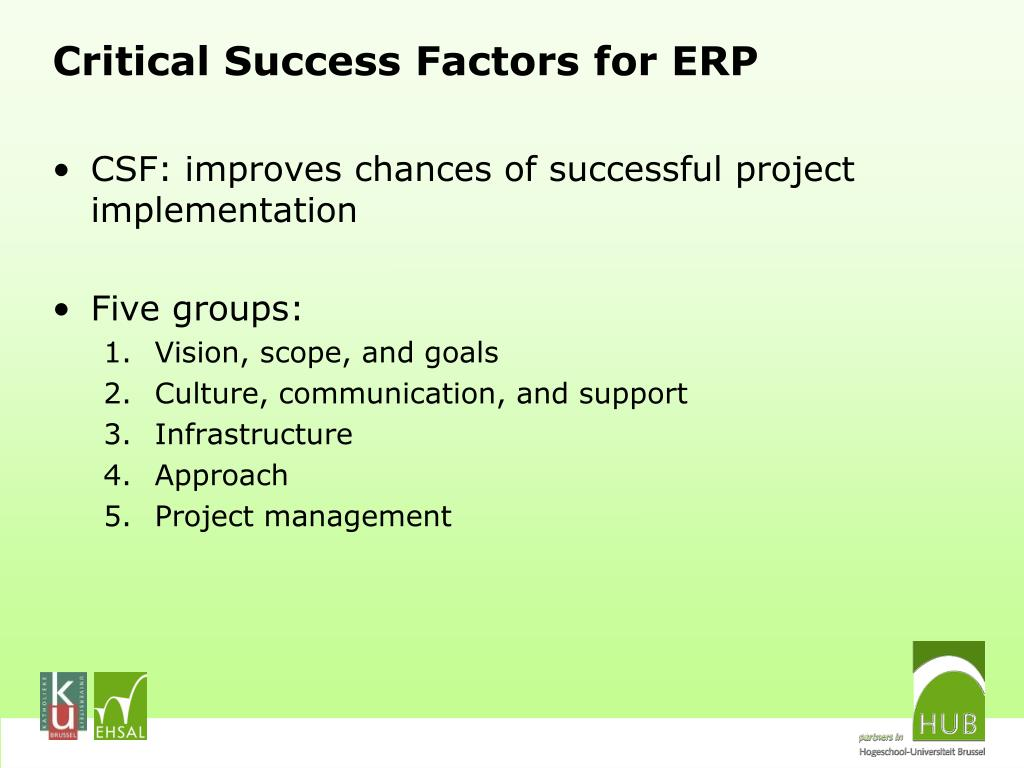 critical success factor of erp implementation The objective of our research was to explore the critical success factors for successful erp sys-tems implementation in public administration.