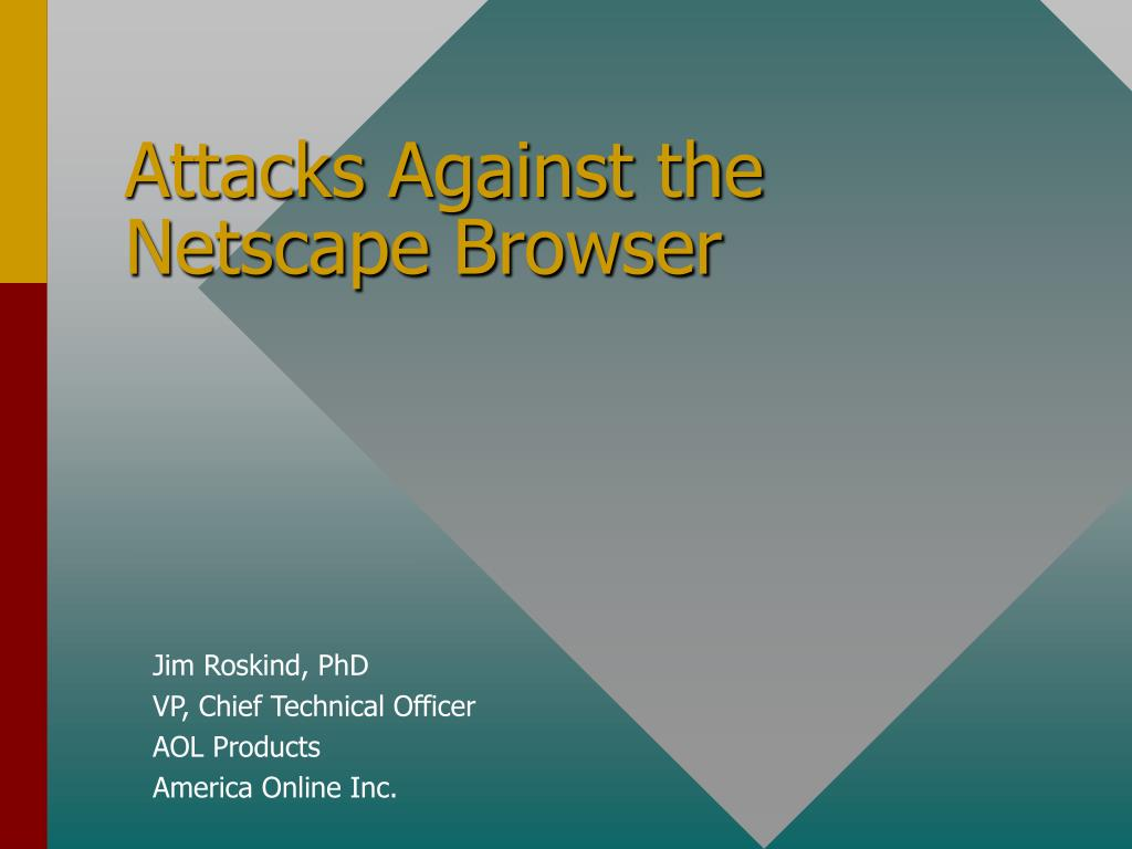 attacks against the netscape browser l.