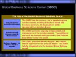 global business solutions center gbsc