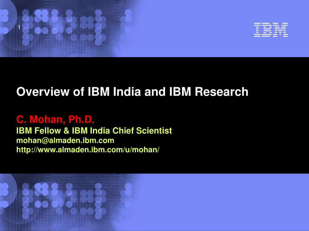 overview of ibm india and ibm research l.