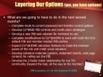 layering our options yes you have options31