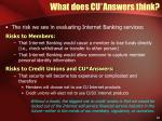 what does cu answers think10