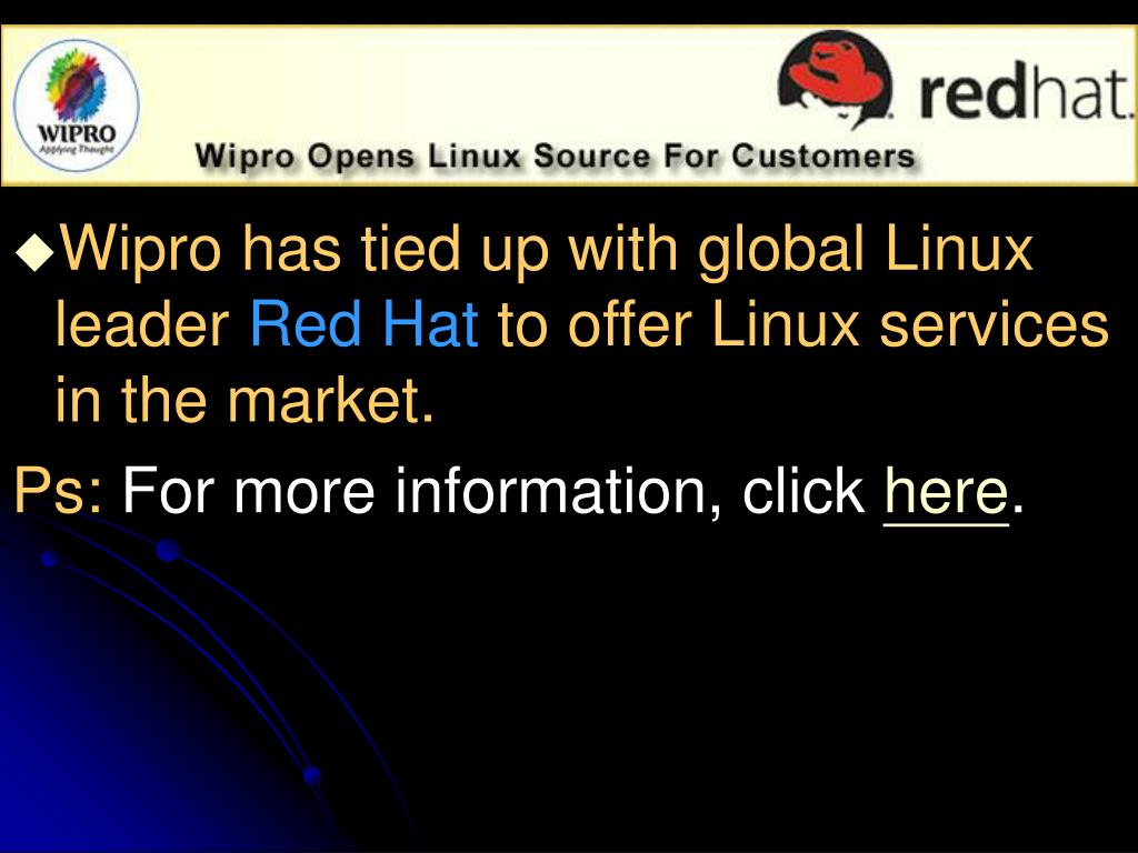 Wipro has tied up with global Linux leader