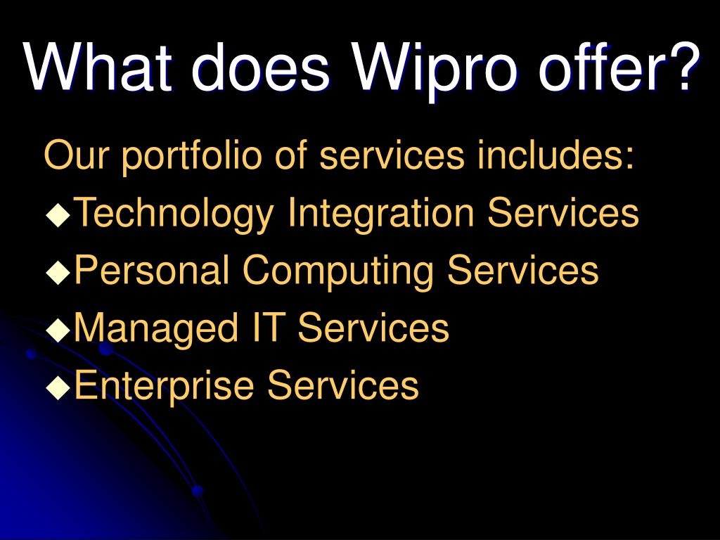 What does Wipro offer?