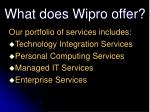 what does wipro offer