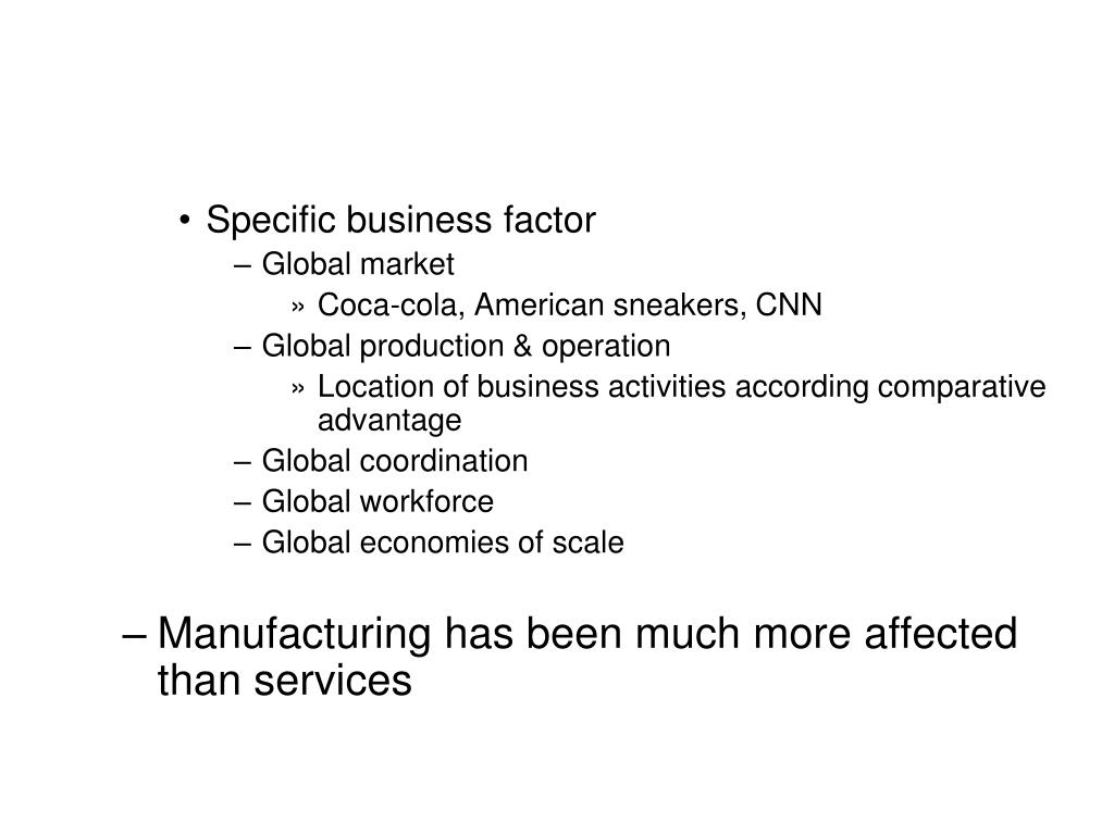 Specific business factor