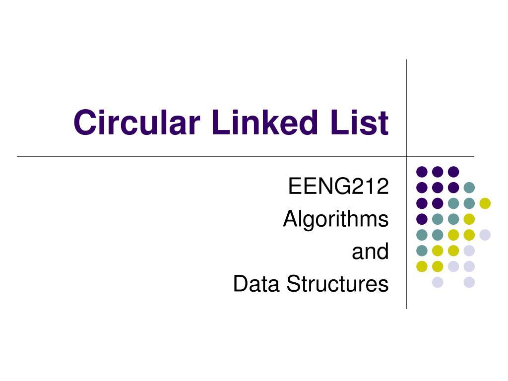 circular linked list l.
