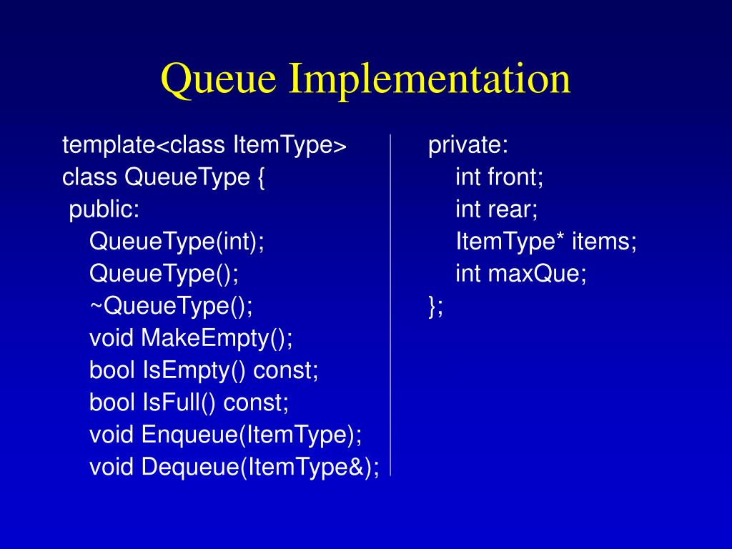 Queue Implementation