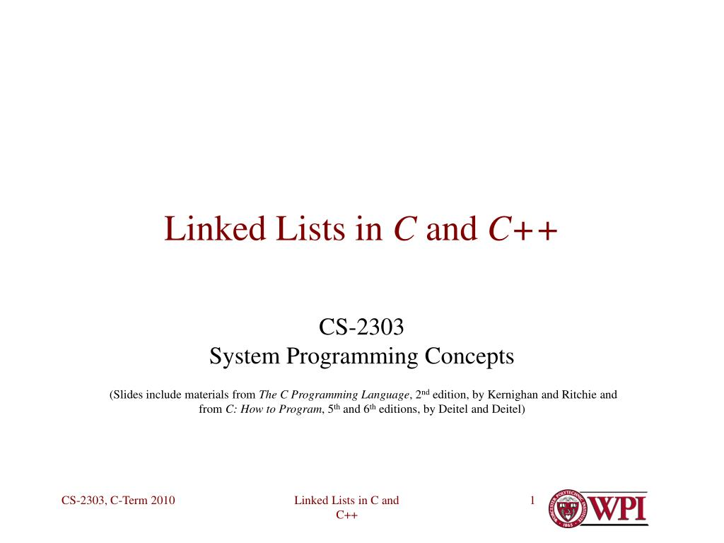 linked lists in c and c l.
