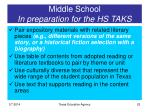middle school in preparation for the hs taks