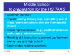 middle school in preparation for the hs taks26