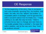 oe response