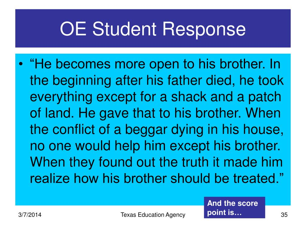 OE Student Response