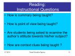 reading instructional questions