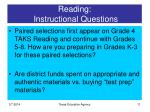 reading instructional questions11