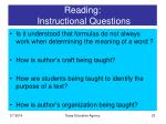 reading instructional questions23