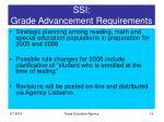 ssi grade advancement requirements