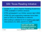 ssi texas reading initiative