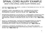 spinal cord injury example most cited spinal cord injury papers sci