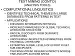 text mining cont d analysis tools11