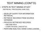 text mining cont d