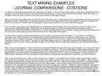 text mining examples journal comparisons citations48