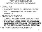 text mining examples literature based discovery