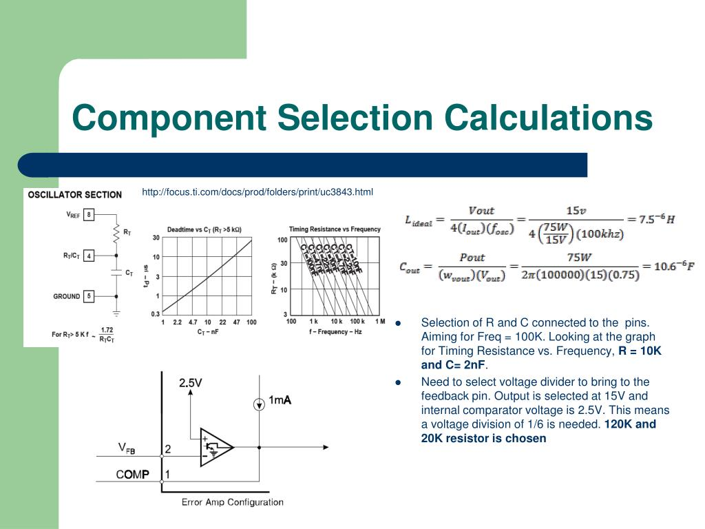 Component Selection Calculations