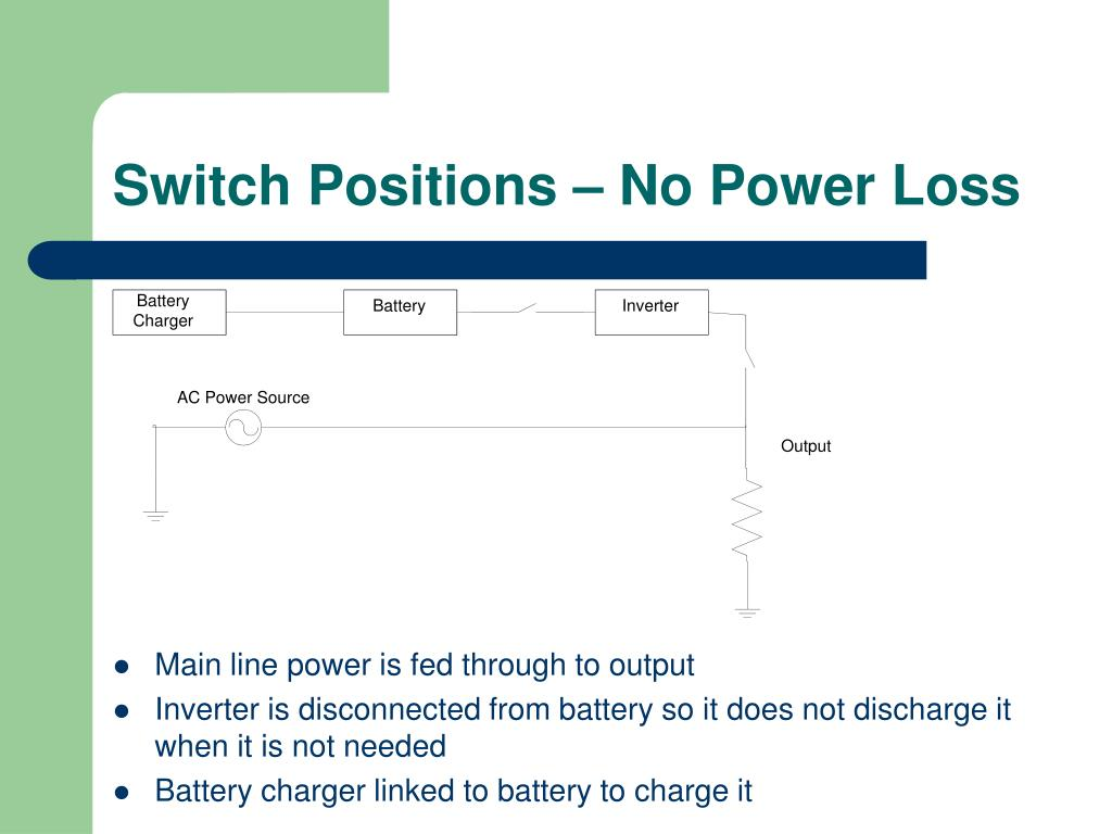 Switch Positions – No Power Loss