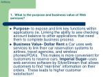 1 what is the purpose and business value of web services