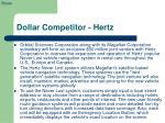 dollar competitor hertz