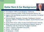 dollar rent a car background