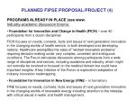 planned fipse proposal project 4