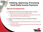 initiating approving processing small dollar invoice payments9