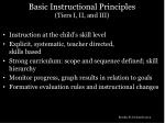 basic instructional principles tiers i ii and iii