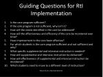 guiding questions for rti implementation