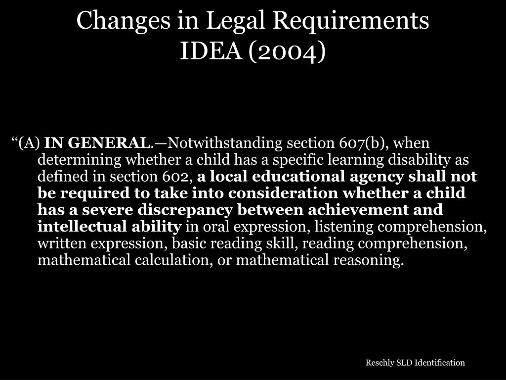 Changes in Legal Requirements