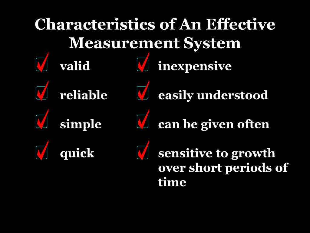 Characteristics of An Effective Measurement System