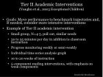 tier ii academic interventions vaughn et al 2003 exceptional children