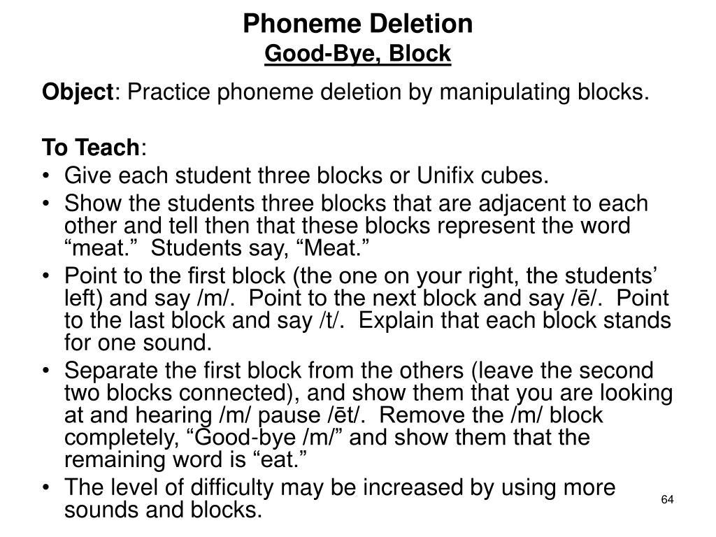 Phoneme Deletion