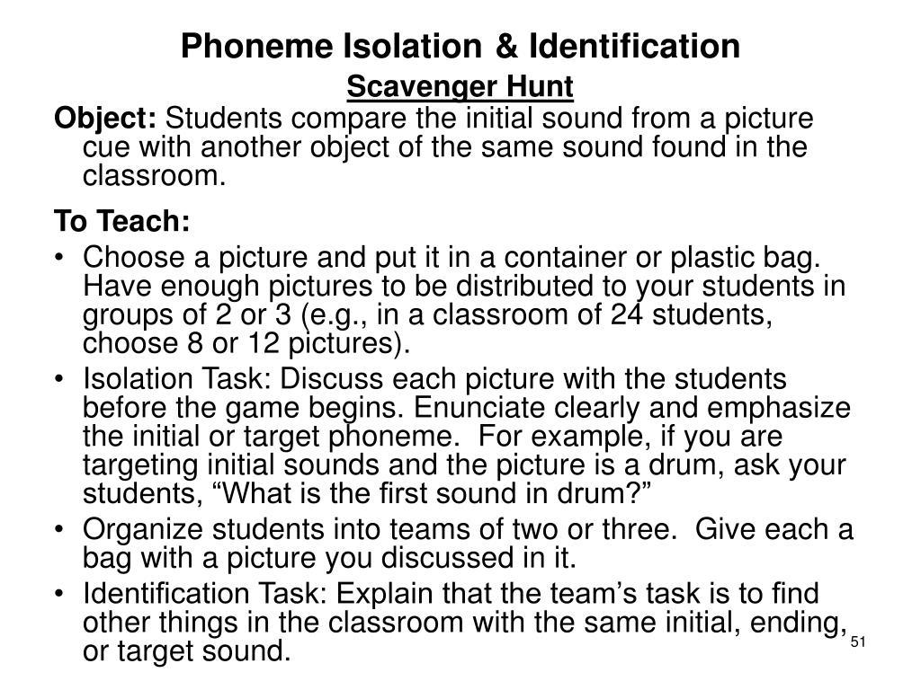 Phoneme Isolation