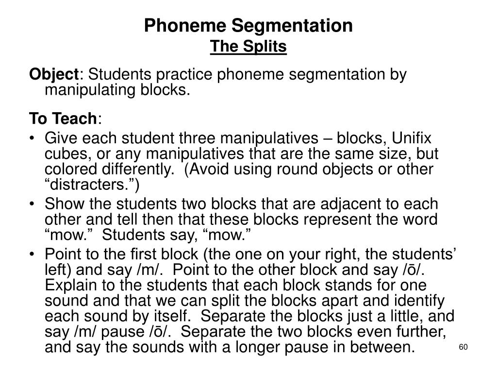 Phoneme Segmentation