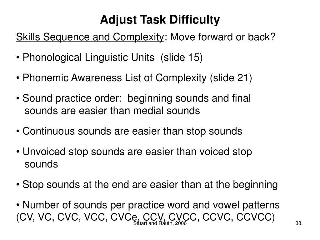 Adjust Task Difficulty