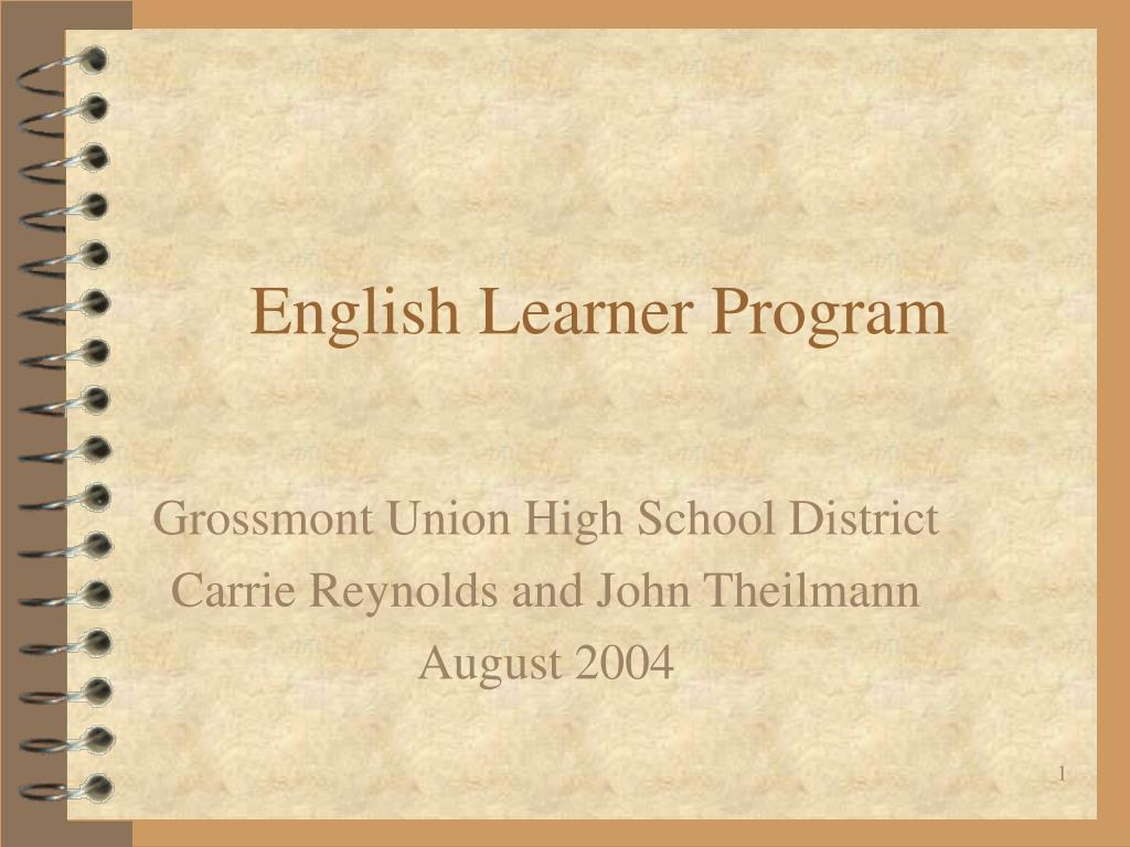 english learner program l.
